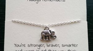 Silver elephant necklace, best friend, friendship necklace, friendship charm, thin necklac...