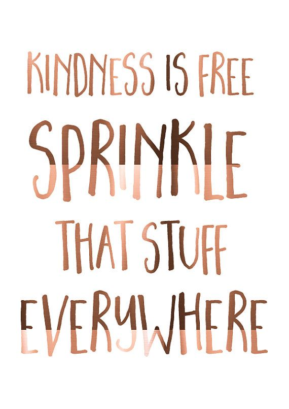 LARGE A3 Copper Foil Print Kindness is free by PeppaPennyPrints