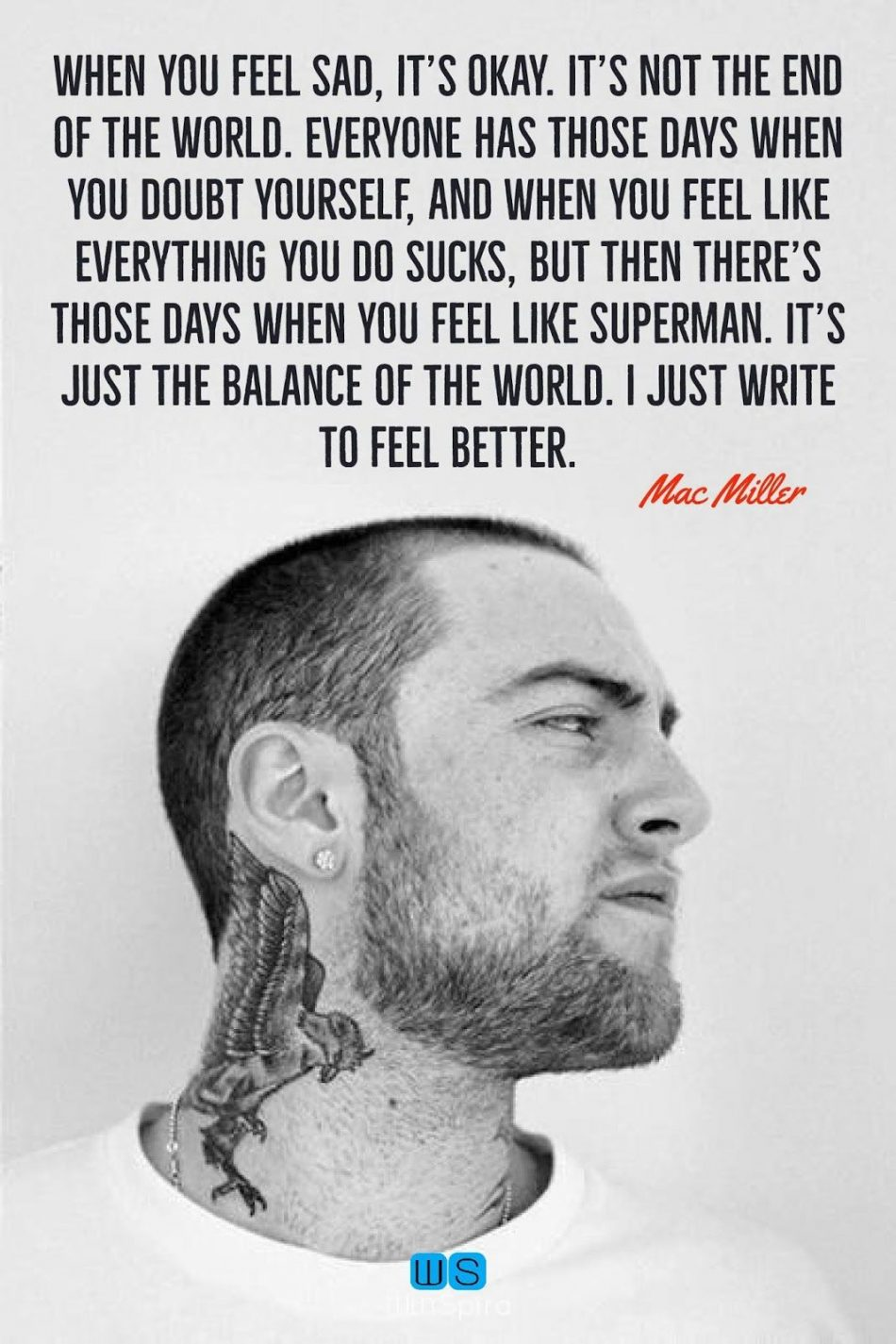 22 Inspirational and motivational Mac Miller quotes (RIP) – Winspira #macmillerquote...