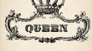 Ornate Frame Royal QUEEN Crown Digital by ProjectPrintable on Etsy
