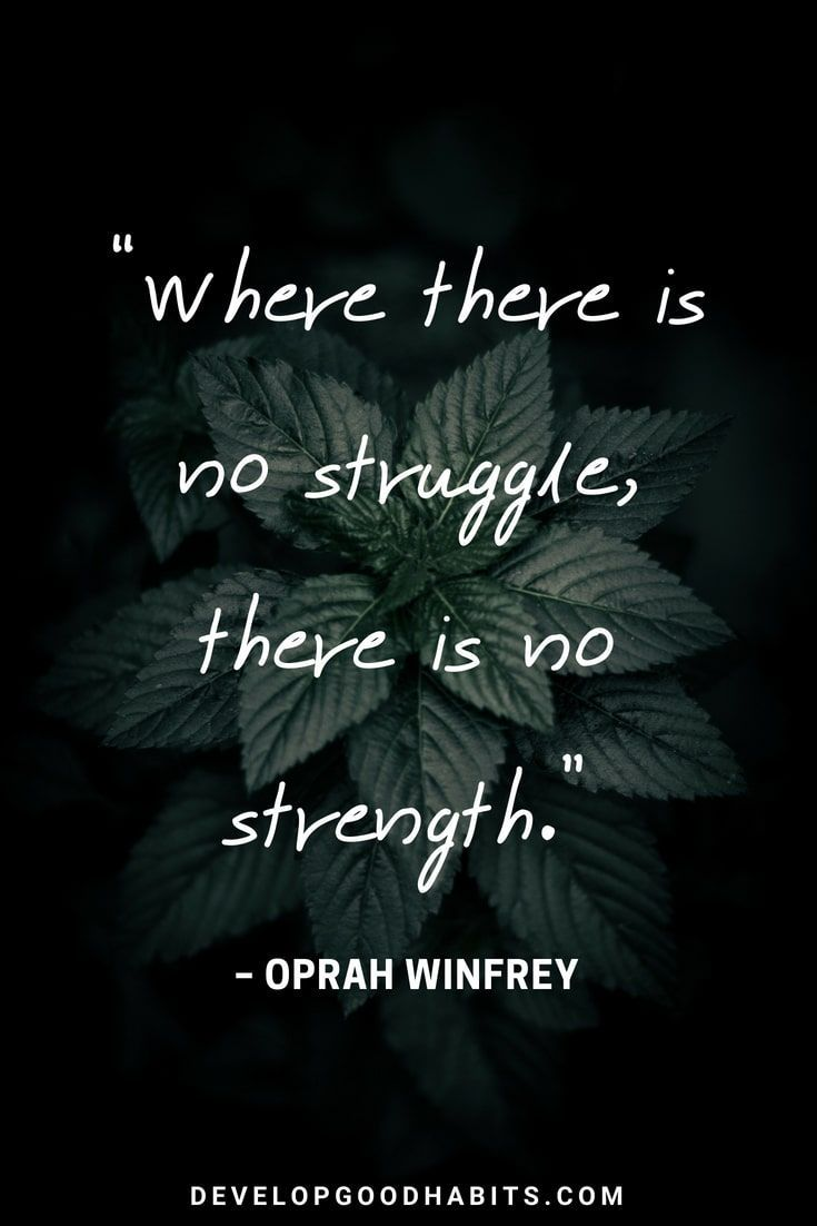 """Short Strength Quotes – """"Where there is no struggle, there is no strength"""" –…"""