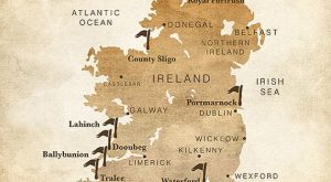 Gift for Golfer, Ireland Map, Golf Map, Personalized Golf Gifts, Golf Courses in Ireland,…