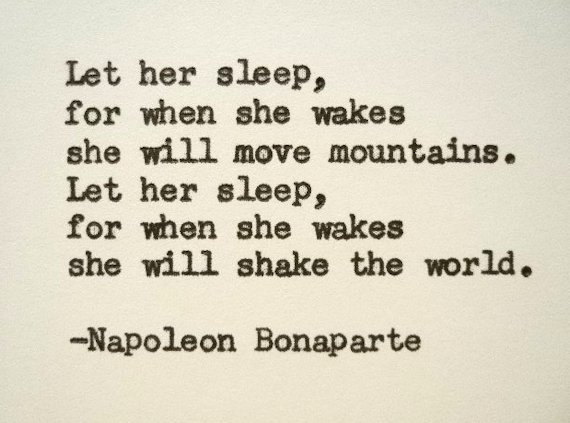 NAPOLEON BONAPARTE quote typed on a Royal by PoetryBoutique