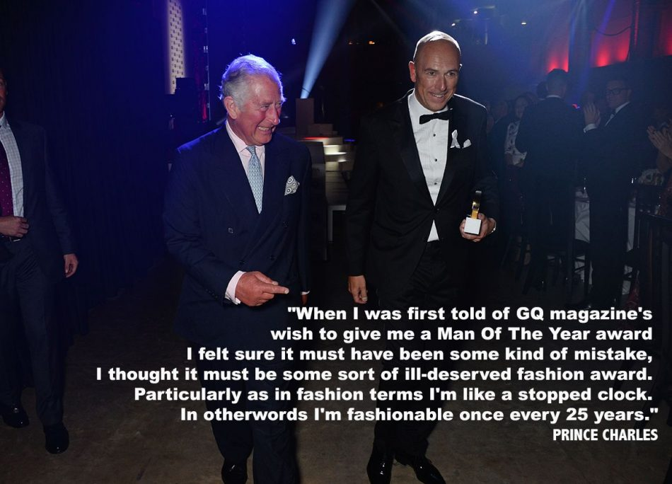 """When I was first told of GQ magazine's wish to give me a Man…"