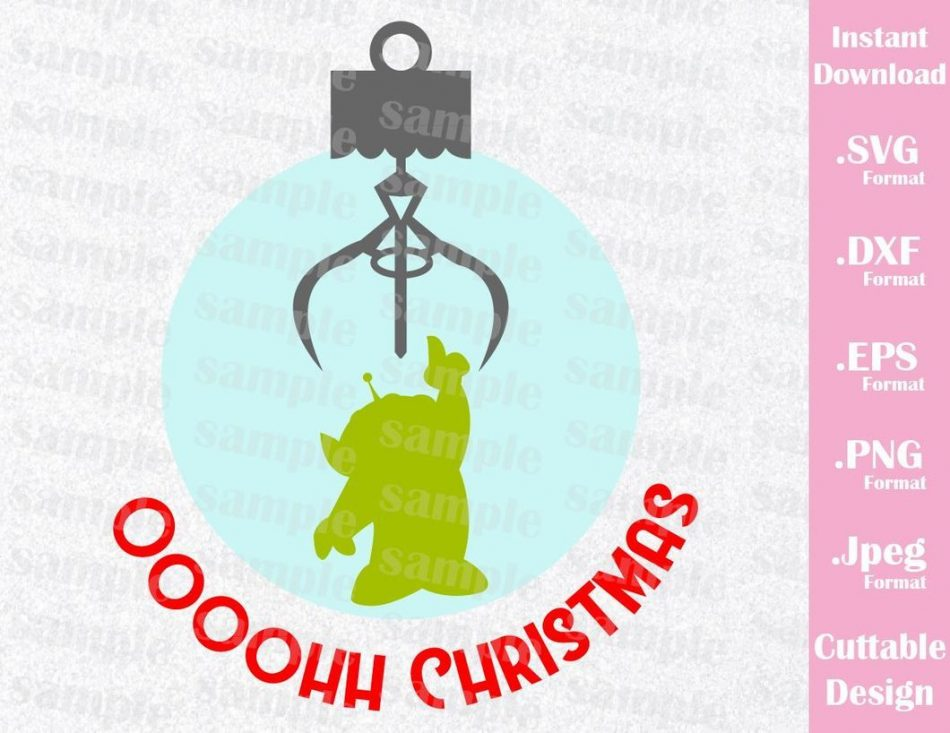 Alien Quote, Christmas Ornament, Toy Story, Disney Inspired Family Vacation Cutting File i...