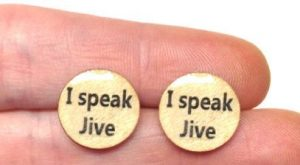 Airplane quote studs I Speak Jive studs Cult by BBgraceDesign