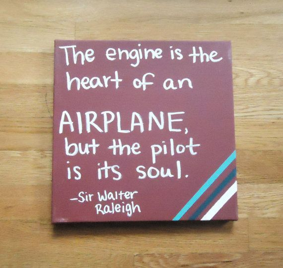 Flying Airplane Quote Painted on Canvas can by TwoCatsDecorations #aviationquotestheaviato...