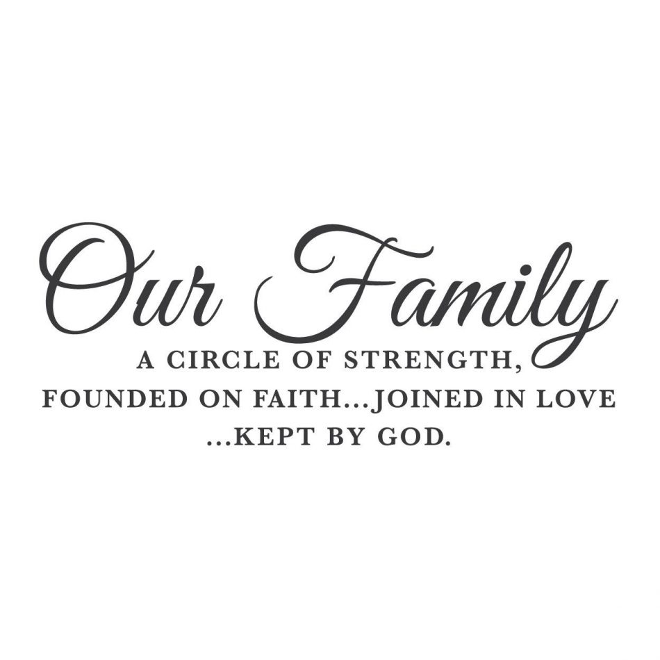 """""""Our Family, A Circle of Strength"""" Mount wall decal   lifestyle"""