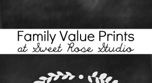 Hang these family value prints in your home to serve as a reminder of…