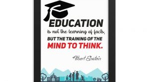 Framed poster – Albert einstein quotes – EDUCATION