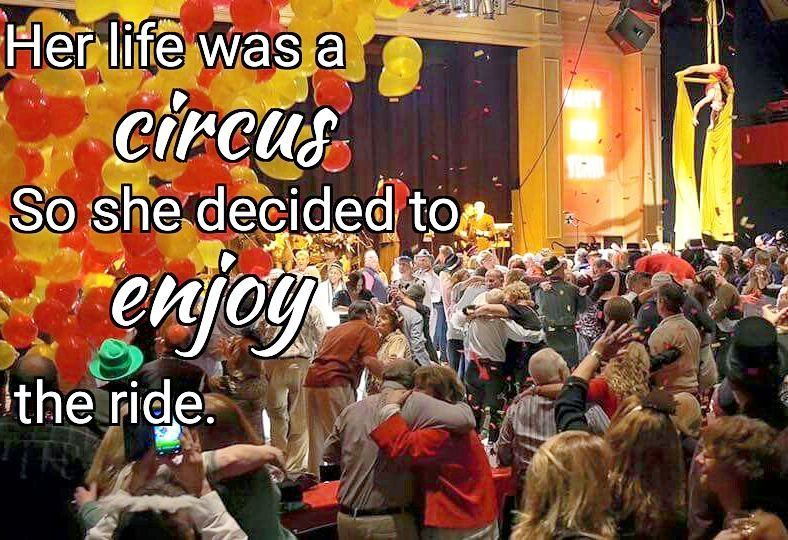 """""""Her life was a circus so she decided to enjoy the ride."""" #motivationmonday se..."""