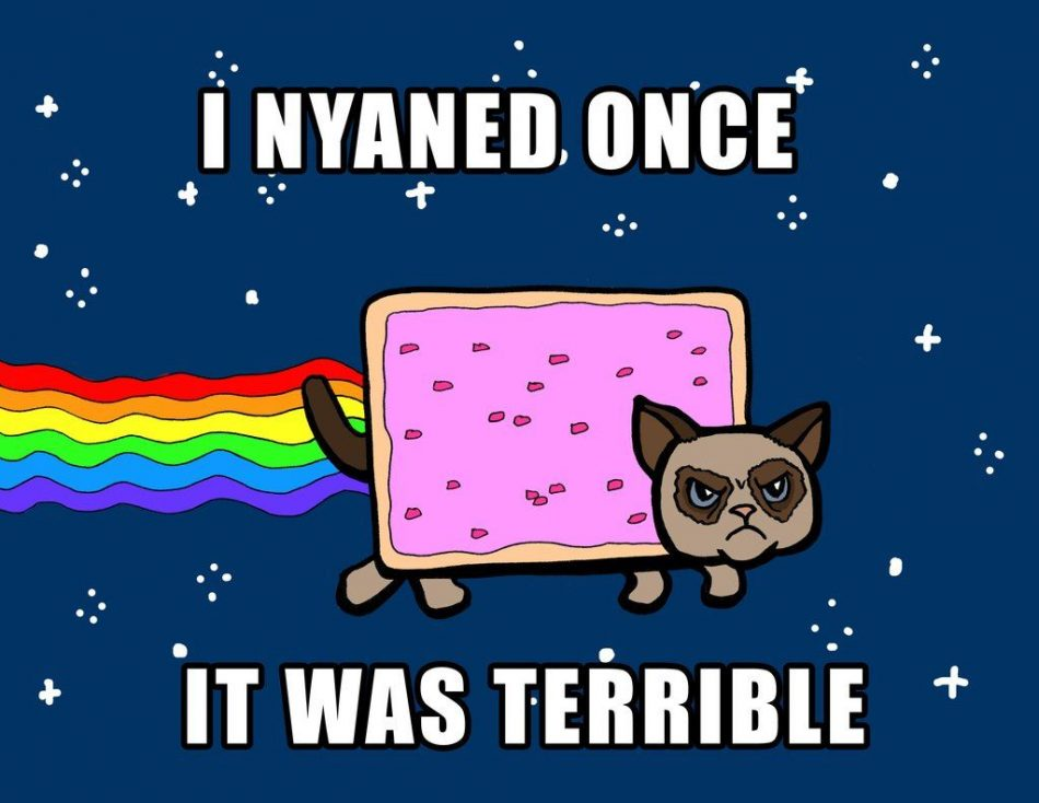Grumpy Nyan Cat with caption by on @deviantART