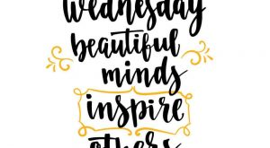 Wednesday beautiful minds inspire others, Happy Wednesday