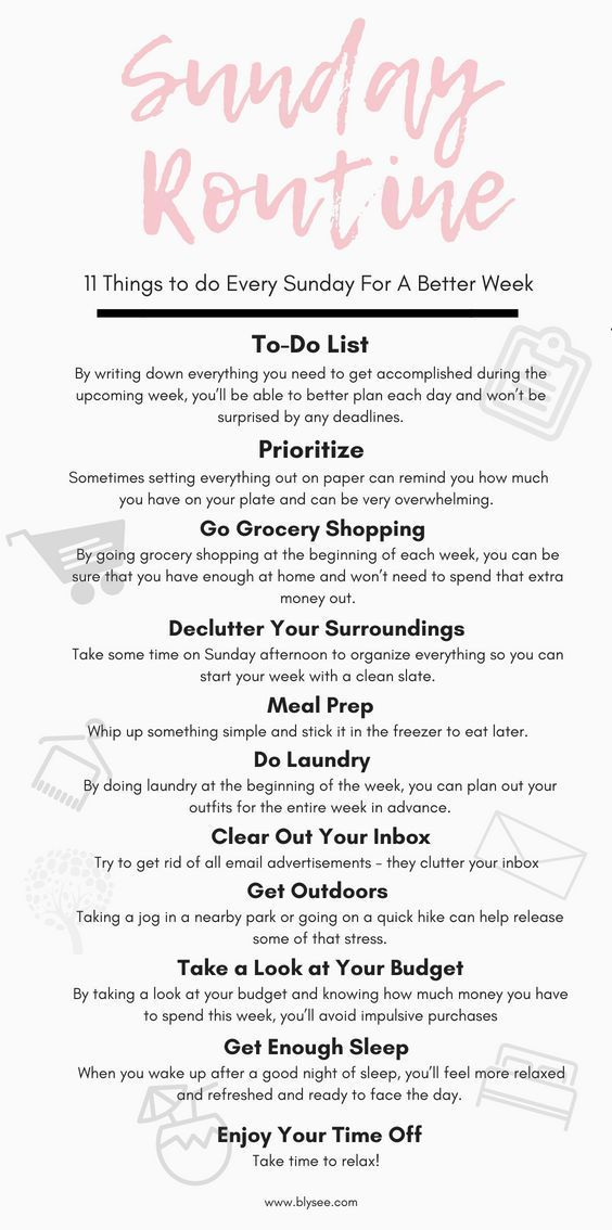 """11 Things to Do on Sunday for a Better Week #sunday explore Pinterest""""> #sunday…"""