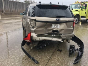Illinois State Police Trooper Injured When Car Fails To Move Over Slams Into Stopped…
