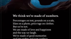 We Think We're Made Of Numbers