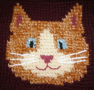 Ravelry: Sweet Kitty Tunisian Crochet Square by Cherie Marie Leck