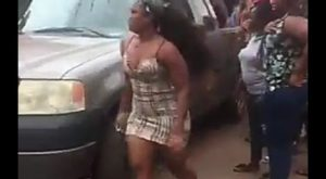 Chaos as BBNaija star, Cee-C's car fails brake in Enugu (video)