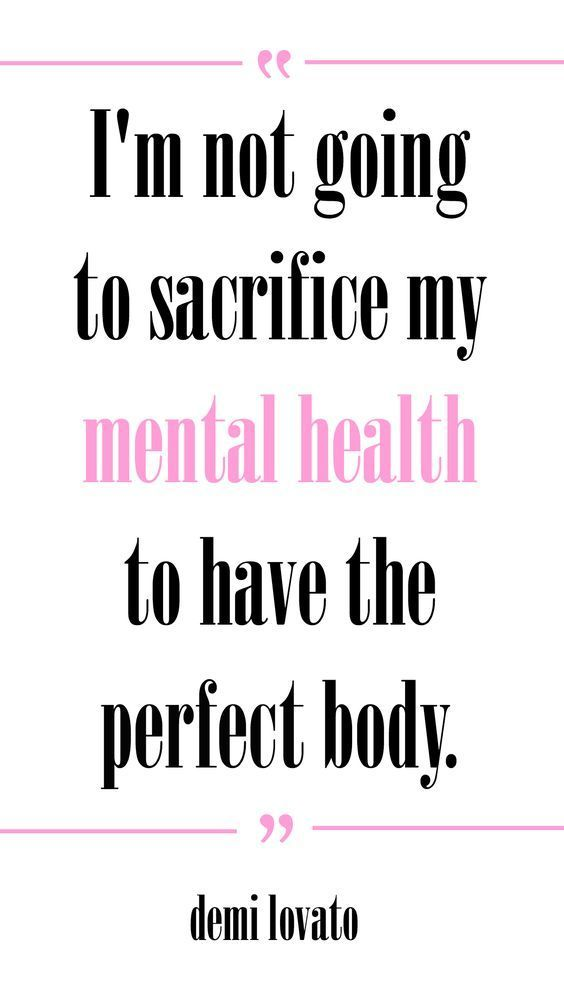 """""""I'm not going to sacrifice my mental health to have the perfect body."""" -Demi…"""