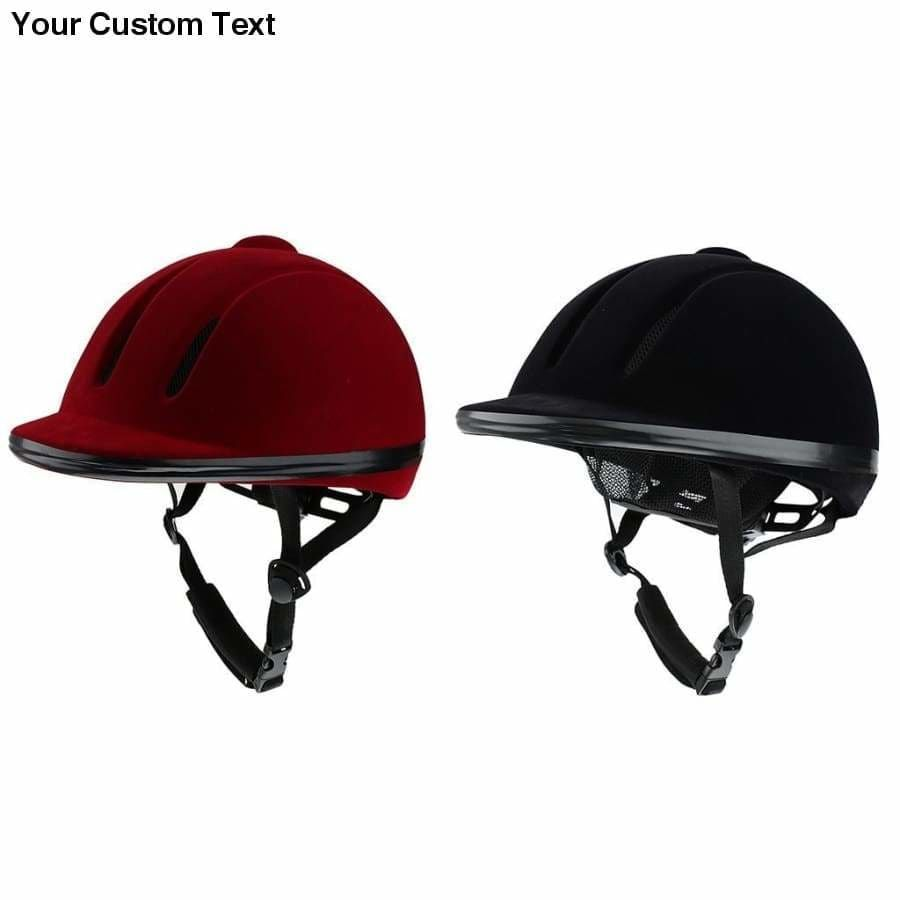 Equestrian Sports Breathable Velvet Horse Rider Helmet Men Women Performance Horse Riding Hat Safety