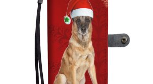 Belgian Malinois Dog On Christmas Print Wallet Case-Free Shipping – Samsung Galaxy A3